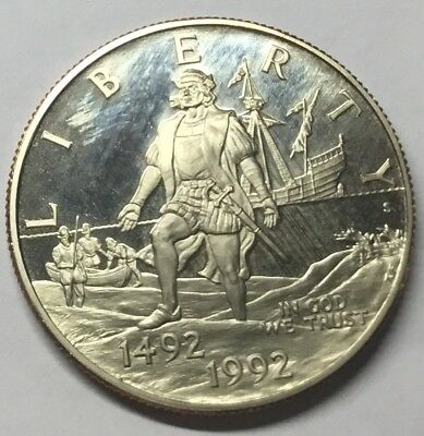 GS938 - USA Half Dollar 1992 S KM#237 Columbus Voyage - 500th Anniversary