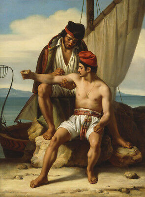"""perfect oil painting handpainted on canvas""""the sailor's tattoo  """"N14654"""