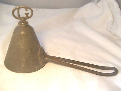 "Nice Antique Fairly Rare Gilcrest Cone Shape Ice Cream Scoop, ""g"" Twist Finial"