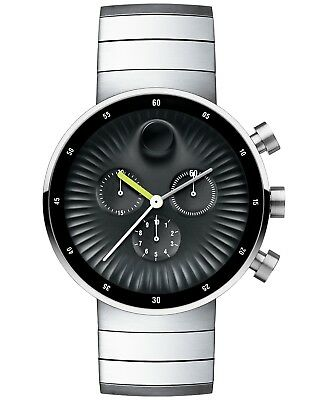 Movado Edge Chronograph Black Dial Stainless Steel Men's Watch 42mm 3680009