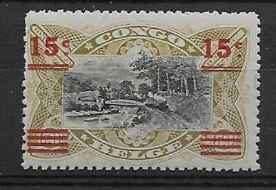 Congo - 1921 - COB 87B* - SURCHARGED - VERY SCARCE - SCOTT UNLISTED - MH -
