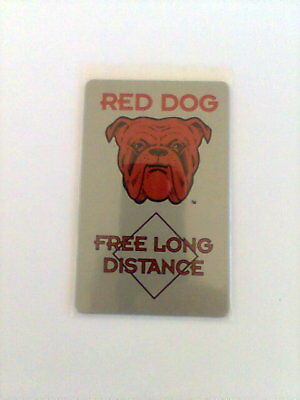 1995 RED DOG Limited Edition 5 Minute Phone Card NEW