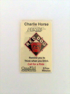 1995 RED DOG Charlie Horse Fun 107 5 Minute Phone Card NEW from OmniTel