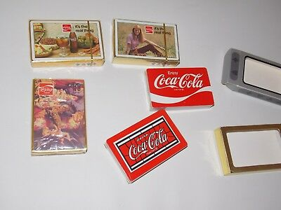 1970's era SEALED in the original cellophane  decks-- 5 sealed coke decks- COKE