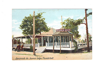 Bannon Lodge, Thunderbolt Savannah GA  Antique  Postcard Y2