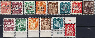 Lithuania - 2N9 - 2N16, 317 - 322 - Complete Mh Sets - Look!