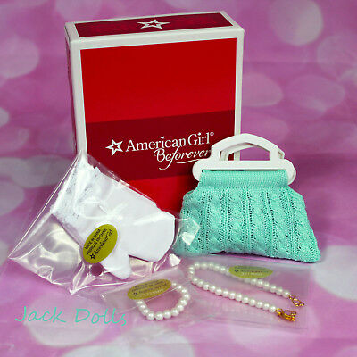 NIB American Girl Beforever Maryellen ACCESSORIES Set Purse Gloves Pearls