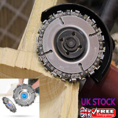 4'' Angle Grinder Disc Tooth Chain Saw For Wood Carving Cutting Plastics Tool UK