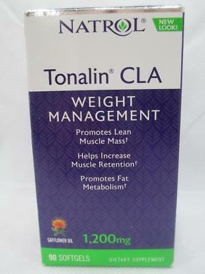 Natrol Tonalin CLA 1200mg w/ Safflower Oil Weight Management 90 Softgels 5/20