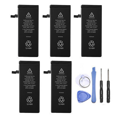"5PCS 1810mAh 616-0805 Li-Ion Internal Battery For Apple iPhone 6 4.7"" + 5 Tools"