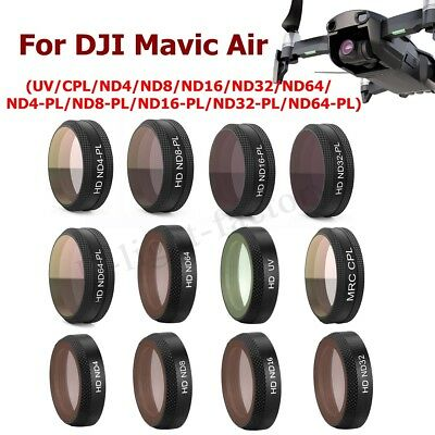 CPL UV ND64-PL HD-ND64 ND4 8 16 32 Lens Filter For DJI Mavic Air Drone RC