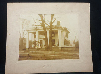 Antique Victorian 4 Columns Grand Mansion Morristown New Jersey Photograph