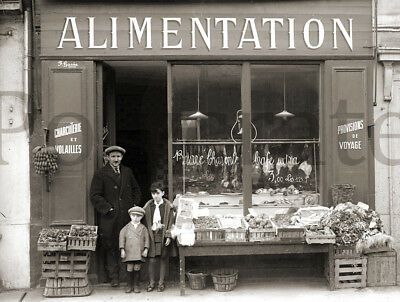 Photo antique trade Toulouse grocery food- printing repro year 1920