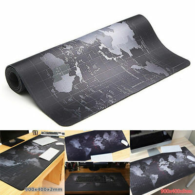 Large 1000*500*2MM World Map Speed Game Mouse Pad Mat Laptop Gaming Mousepad NEW