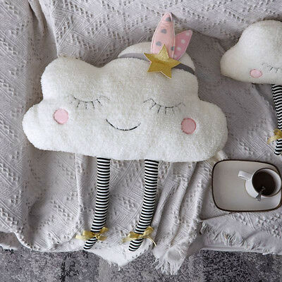 Plush Cloud Moon Star Cushion Sweet Dreams Childrens Kids Nursery Pillow Gift