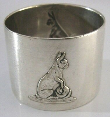 RARE WMF SILVER PLATED RABBIT NAPKIN RING c1900-1910 ANTIQUE