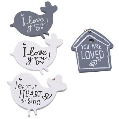 Funny House Craft Home Garden Welcome Board Bird Wall Hanging Plate C