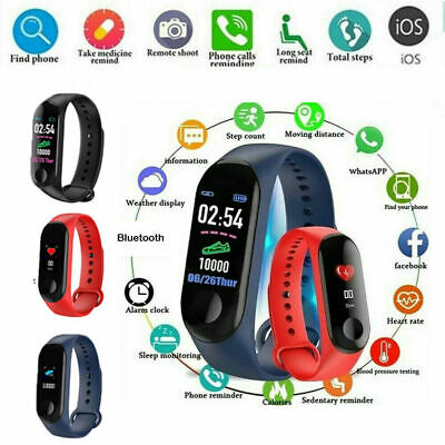 Blood Pressure Heart Rate Monitor Smart Watch Bracelet Steps Fitness Tracker CHZ