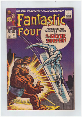 Fantastic Four # 55  Power of the Silver Surfer ! grade 7.0 scarce book !