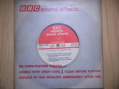 """BBC Sound Effects 7"""" Record - Mixed Woodland Atmosphere, Coniferous Forest"""