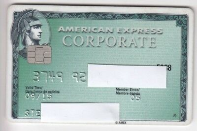 Carte / Card Banque Bank Credit .. Ancienne Old Cb American Express Perimee Puce