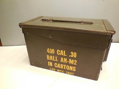 Military 30 CAL Metal AMMO BOX .30 CALIBER - FREE SHIPPING