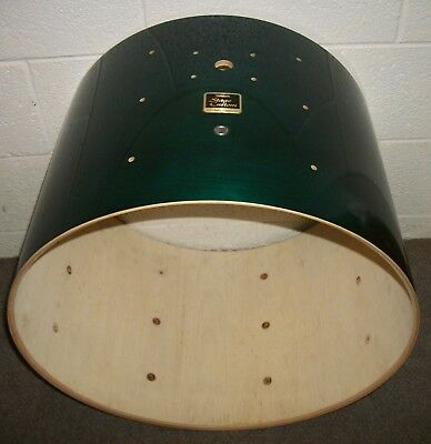 """YAMAHA Stage Custom 22"""" Bass Drum SHELL - 16"""" Deep - Green Stained"""