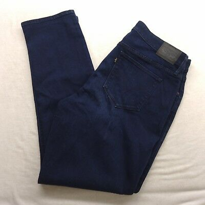 New Levis Womens Plus 512 Skinny Dark Indigo Stretch Jeans Pants 18M / 34 x 30