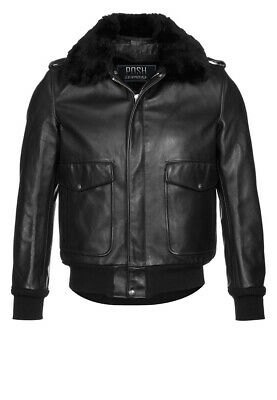 e183ff753e3 Men s Pilot Bomber Real Cow Leather 100% Jacket with Removable Fur Collar
