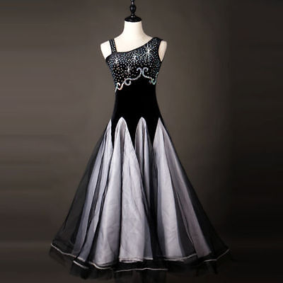 2018 NEW Ballroom Competition Dance Dress Modern Waltz Standard Dress #1861