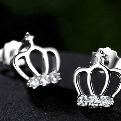 Women Drop Earings Bridal Elegant Crystal Crown Dangle Earring Jewellry Gift Z