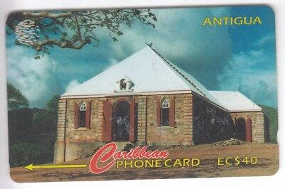 Amerique  Telecarte / Phonecard .. Ile Antigua 40$ Gpt 18Cat Eglise Church