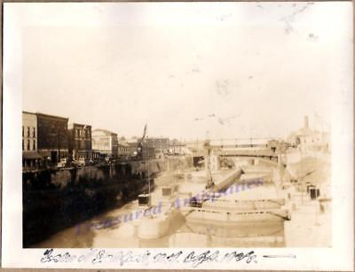 1928 Lockport New York Erie Canal Locks Waterfront Business Store Building Photo