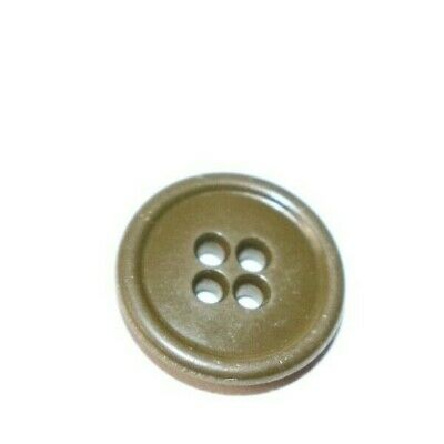 WWII US OD #7 domed middle raised edge 4 holes Button size 7/8 inch each B1544