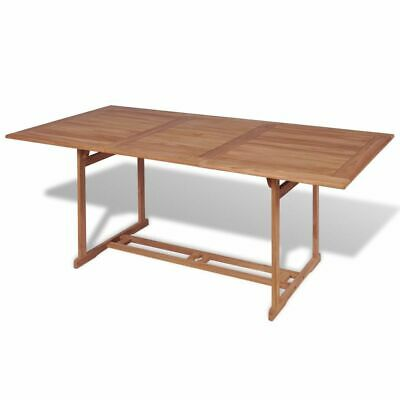 vidaXL Teak Outdoor Dining Table Rectangular 180x90x75cm Garden Furniture