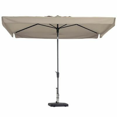 Madison Parasol Delos Luxe 300x200 cm Ecru Outdoor Garden Umbrella PAC5P016