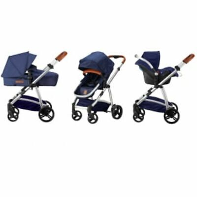 Born Lucky Pushchair Pram Rapido Blue Baby Stroller Buggy Travel System 07750