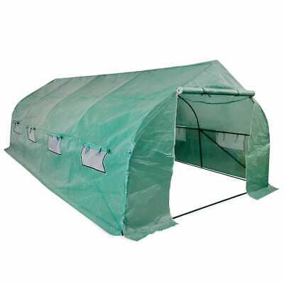 vidaXL Portable Polytunnel Greenhouse Steel Frame Garden Plants Walk-in 18 m²