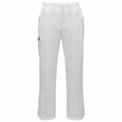 vidaXL 2 pcs Chef Pants Uniforms Stretchable Waistband with Cord Size S White