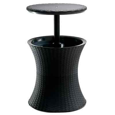 Keter Pacific Cool Bar Antracite Outdoor Ice Accent Table Party Deck 203835