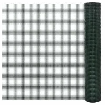 Square Wire Netting 1x10 m PVC-coated Galvanized Mesh Size 19x19 mm