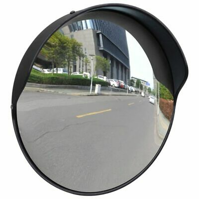 Convex Traffic Mirror PC Plastic Black 30 cm Wide Angle Outdoor Blind Spots