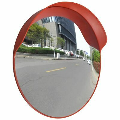 vidaXL Convex Traffic Mirror PC Plastic Orange 60 cm Outdoor Road Safety Wide