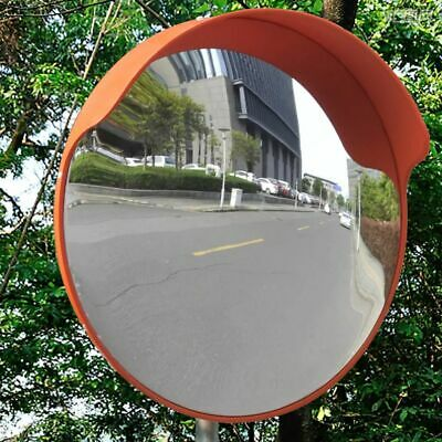 vidaXL Convex Traffic Mirror PC Plastic Orange 45 cm Outdoor Road Safety Wide