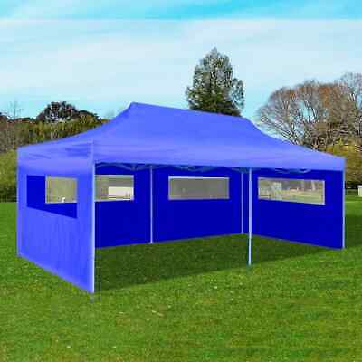 vidaXL Foldable Pop-up Party Tent 3x6m Blue Outdoor Gazebo Marquee Pavilion