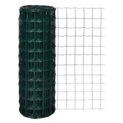 vidaXL Euro Fence Wire Mesh Fencing Barrier 10x1.96 m with 76x63 mm Mesh Steel