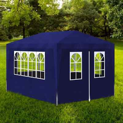 vidaXL Party Tent 3x4m with 4 Walls Blue Patio Garden Gazebo Marquee Pavilion