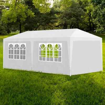 vidaXL Party Tent 3x6m with 6 Walls White Patio Garden Gazebo Marquee Pavilion