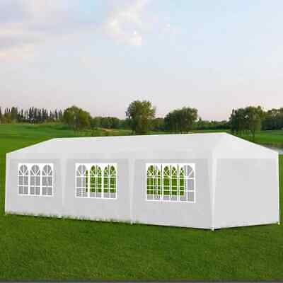 vidaXL Party Tent 3x9m with 8 Walls White Patio Garden Gazebo Marquee Pavilion