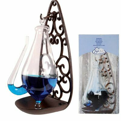 Esschert Design Weather Glass with Cast Iron Holder 0.5L Bottle Barometer TH31